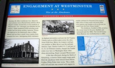 Engagement at Westminster Marker image. Click for full size.
