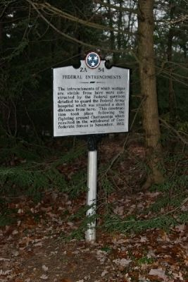 Federal Entrenchments Marker image. Click for full size.