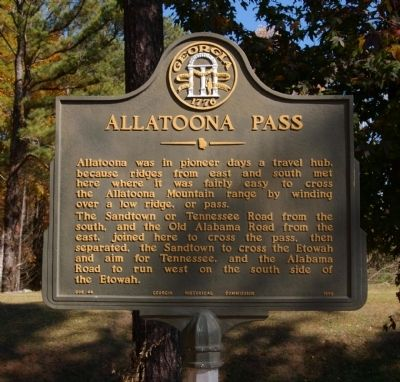Allatoona Pass Marker image. Click for full size.