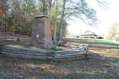 Mary Musgrove Monument with Visitor Center in Background image. Click for full size.