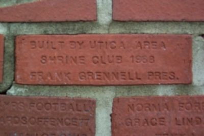 Utica Area Shriners Dedication Brick image. Click for full size.