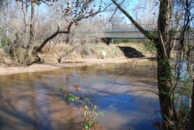 Enoree River Looking East to the Battle of Musgrove's Mill Memorial Bridge image. Click for full size.