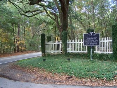 Drayton Hall Marker, along Ashley River Road image. Click for full size.