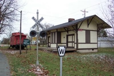 N.W. Franklin County Historical Society and Museum Village and Marker image. Click for full size.