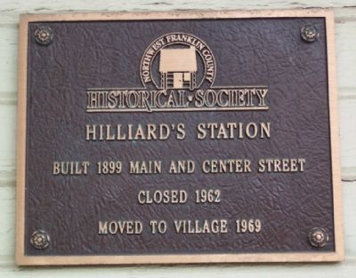 Hilliard Railroad Depot Marker image. Click for full size.
