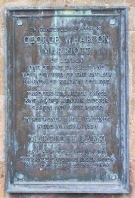 George Wharton Marriott Marker image. Click for full size.