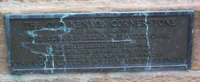 Old Kenyon Cornerstone Marker image. Click for full size.