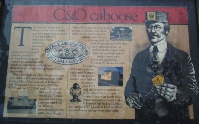C & O caboose Marker image. Click for full size.