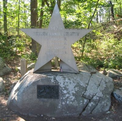 147th Pennsylvania Infantry Monument image. Click for full size.