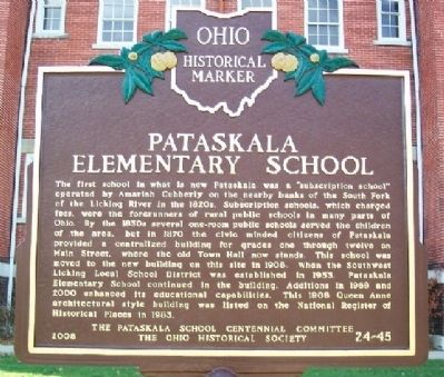 Pataskala Elementary School Marker image. Click for full size.