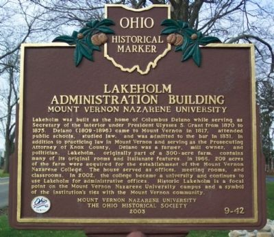 Lakeholm Administration Building Marker image. Click for full size.