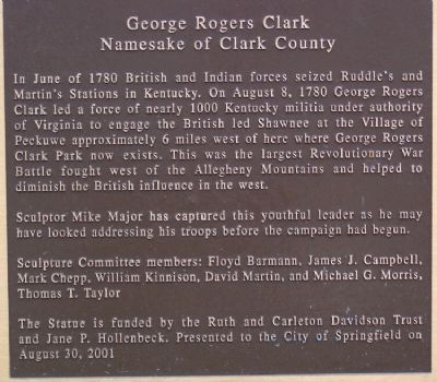 George Rogers Clark Marker image. Click for full size.