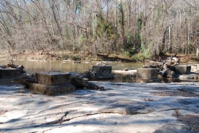 Ruins of a Bridge Which Once Crossed the Enoree River image. Click for full size.