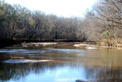 Enoree River Looking West from Bridge Ruins image. Click for full size.