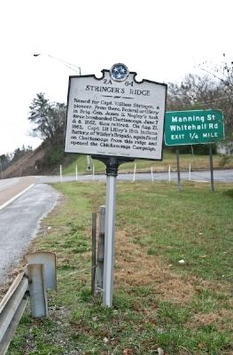 Stringer's Ridge Marker image. Click for full size.
