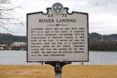 Ross's Landing Marker image. Click for full size.