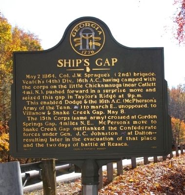 Ship's Gap Marker image. Click for full size.
