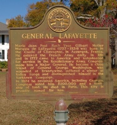 General LaFayette Marker image. Click for full size.