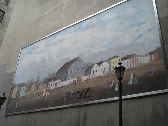 Mural in Courtyard image. Click for full size.