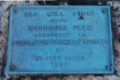 Old Mill Stone Marker image. Click for full size.