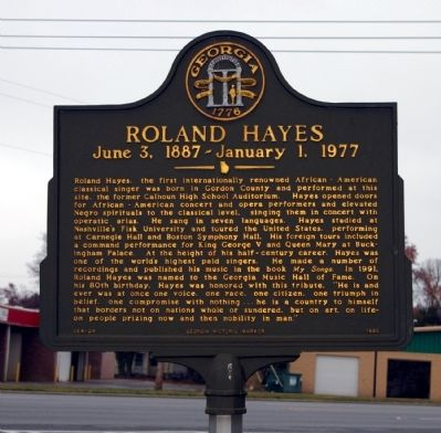 Roland Hayes Marker image. Click for full size.