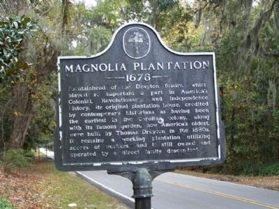 Magnolia Plantation Marker image. Click for full size.