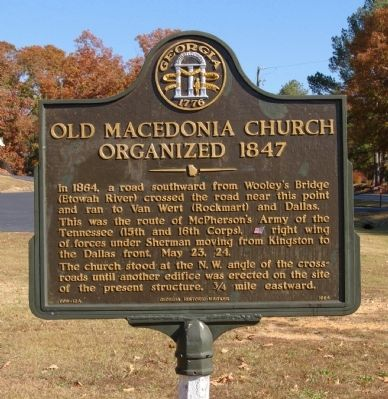 Old Macedonia Church Organized 1847 Marker image. Click for full size.
