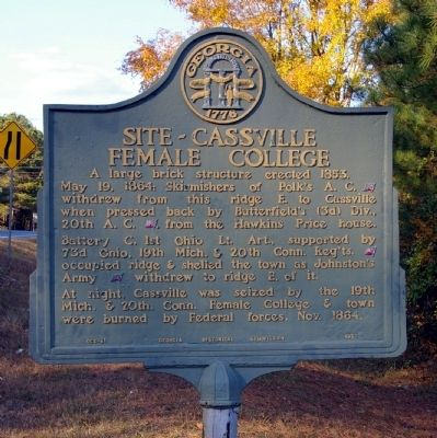 Site - Cassville Female College Marker image. Click for full size.