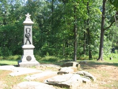 137th New York Infantry Monument as seen from the Road image. Click for full size.