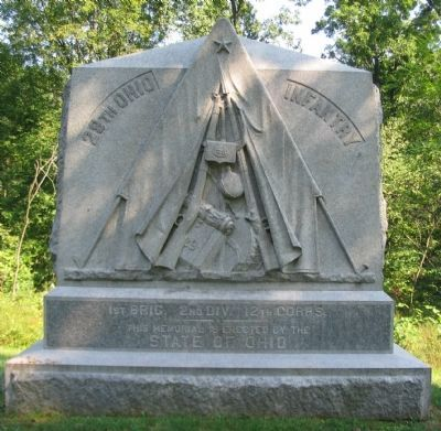 29th Ohio Infantry Monument image. Click for full size.