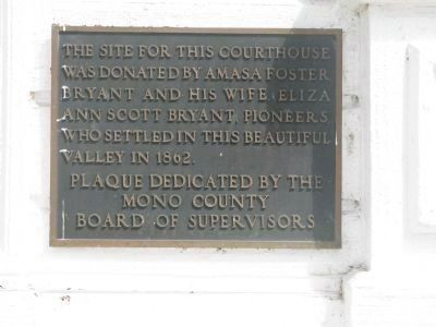 This Marker is Mounted on the Building to the Left of the Entrance image. Click for full size.