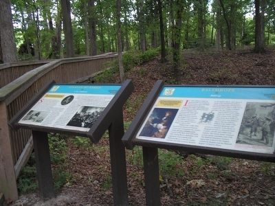 Newport News Founders' Trail Markers image. Click for full size.