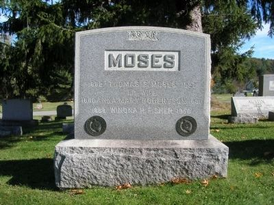 Moses Family Headstoned in Grove Cemetery image. Click for full size.