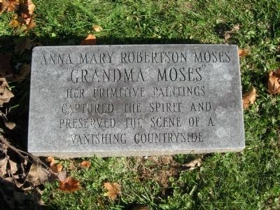 Grandma Moses Headstone Memorial image. Click for full size.