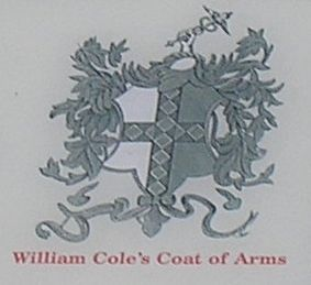 Cole Coat of Arms from Marker image. Click for full size.