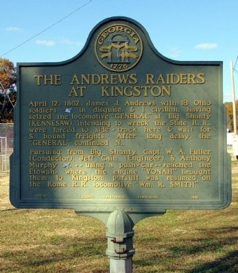 The Andrews Raiders at Kingston Marker image. Click for full size.