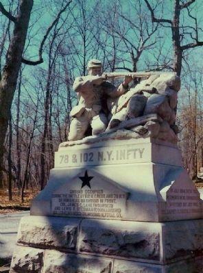 102 & 78th New York Infantry Marker image. Click for full size.