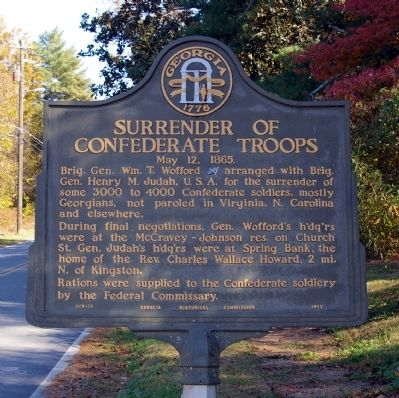 Surrender of Confederate Troops Marker image. Click for full size.