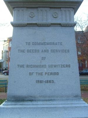 Richmond Howitzers Monument Marker image. Click for full size.