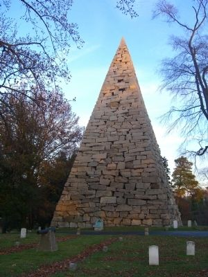 Confederate Memorial Pyramid Marker image. Click for full size.