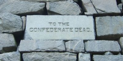 Confederate Memorial Pyramid Marker (east side) image. Click for full size.