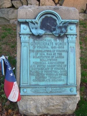 A Memorial to the Confederate Women Marker of Virginia, 1861 - 1865 (on west side of Pyramid) image. Click for full size.