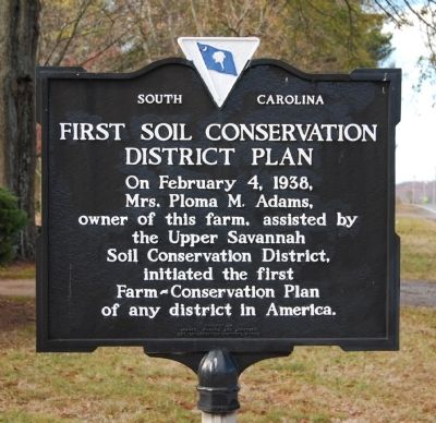 First Soil Conservation District Plan Marker image. Click for full size.