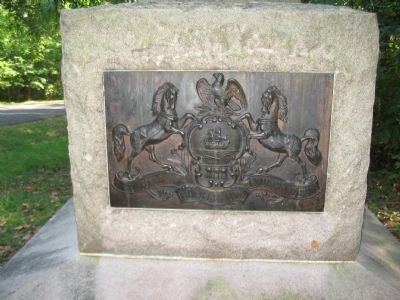 State Seal on Monument image. Click for full size.