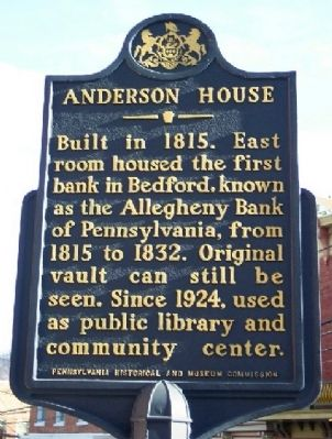 Anderson House Marker image. Click for full size.