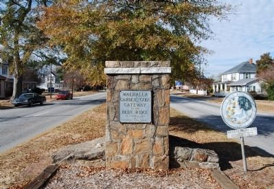 Walhalla Marker with Main Street in the Distance image. Click for full size.