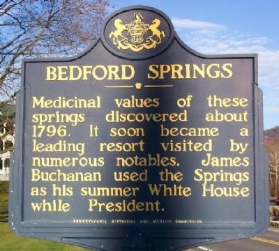 Bedford Springs Marker image. Click for full size.