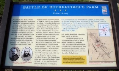 Battle of Rutherford's Farm Marker image. Click for full size.