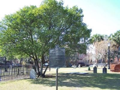 William Stephens Marker, in Colonial Park Cemetery, Savannah image. Click for full size.