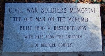 Bedford County Civil War Monument Restoration Marker image. Click for full size.